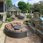 New Outdoor Fireplace/ Remodeled Pool House