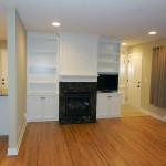 Remodled Living Room/Fireplace/Bookshelves