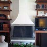 Old Fireplace/Bookshelves